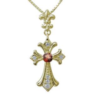メンズ ネックレス 選べる天然石 クロス 十字架 ペンダント|plejour