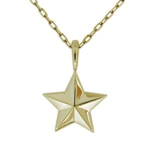 ネックレス メンズ 18金 K18 星 スター ペンダント シンプル 星モチーフ|plejour