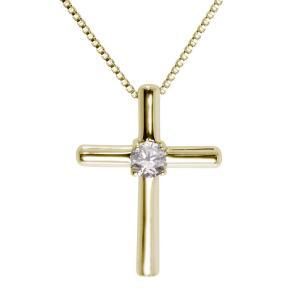 クロス ネックレス 十字架 ペンダント 誕生石 K18 plejour