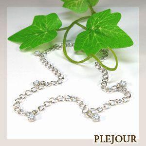 ダイヤモンド ブレスレット 誕生石 K18|plejour
