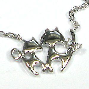 ダイヤモンド アンクレット ブレスレット ネコ K18|plejour