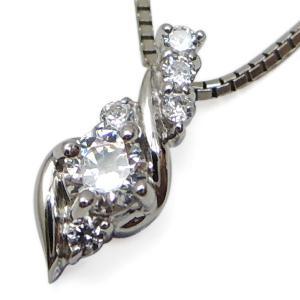 ダイヤモンド ネックレス プラチナ ダイヤモンド ペンダント|plejour