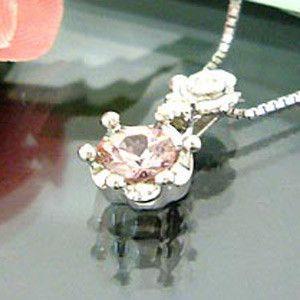 シャンパンガーネット ペンダント 王冠 K18ゴールド ネックレス