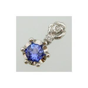 薔薇と王冠 ペンダント タンザナイト ネックレス K18ゴールド|plejour