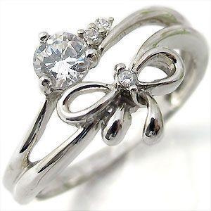 婚約指輪 安い エンゲージリング 18金 ダイヤモンド リング|plejour
