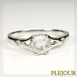 ロイヤルブルームーンストーン リング K18WG指輪|plejour
