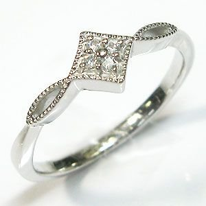 プラチナ ダイヤモンドリング アンティーク 指輪 クリスマス ポイント消化 plejour