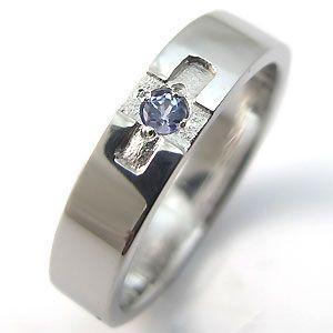 ファランジリング タンザナイト シルバーリング クロス 結婚指輪