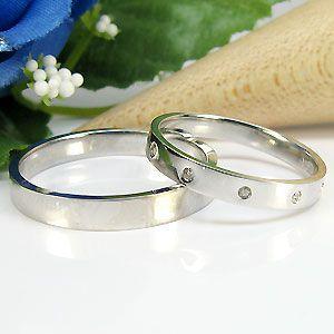 結婚指輪 ペアリング プラチナ ダイヤモンド pt900 マリッジリング plejour
