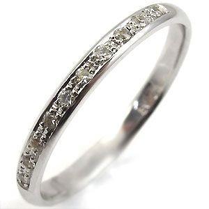 K18WG・ダイヤモンドリング・シンプル・結婚指輪 安い・ダイヤモンド・リング plejour