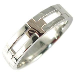 ファランジリング ピンキーリング クロス ペアリング シルバー K18/SV925 結婚指輪 安い plejour