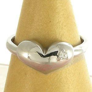 ハート:シルバー:キュービックジルコニア:シンプル:リング:プクプク:指輪 ファランジリング plejour