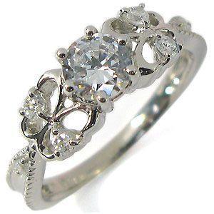鑑定書付き 婚約指輪 K18ゴールド ダイヤモンド リング エンゲージリング|plejour