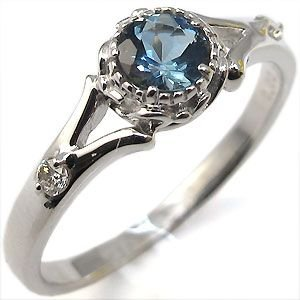 婚約指輪 アクアマリン リング プラチナ サンタマリア アクアマリンリング|plejour