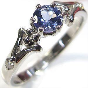 婚約指輪 タンザナイト リング プラチナ エンゲージリング
