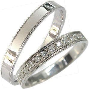 結婚指輪 マリッジリング K18ゴールド ダイヤモンドリング