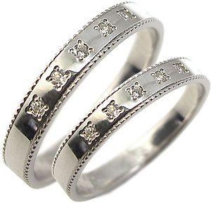 K18ゴールド ペアリング ダイヤモンド 結婚指輪 マリッジリング|plejour