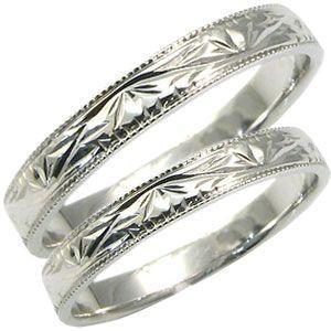 マリッジリング ペアリング 結婚指輪 プラチナ 彫金 クリスマス ポイント消化|plejour