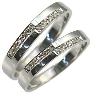 ダイヤモンド ペアリング 18金 マリッジリング 結婚指輪|plejour