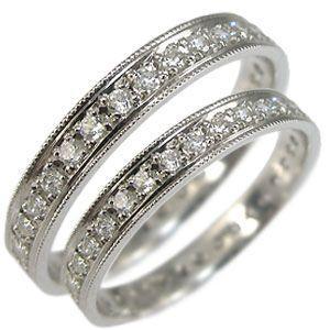 エタニティー ペアリング マリッジリング  ダイヤモンド 1...