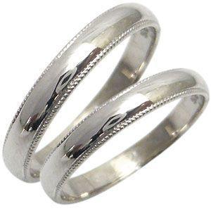 結婚指輪 安い マリッジリング 甲丸 ミル打ち 10金 ペアリング plejour
