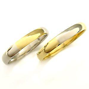 結婚指輪 プラチナ 18金 コンビ マリッジリング|plejour