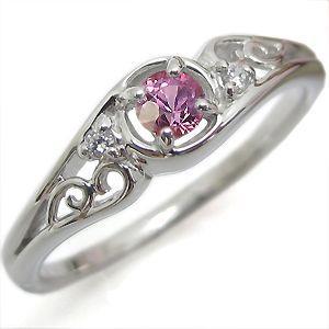 リング ピンクサファイア 指輪 一粒 アンティーク K10|plejour