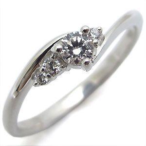 婚約指輪 ダイヤモンド エンゲージリング 一粒 K18 ダイアモンドリング|plejour