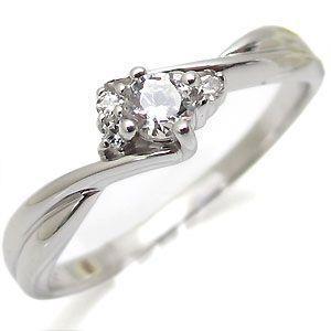 婚約指輪 ダイヤモンド 一粒 K10 エンゲージリング|plejour