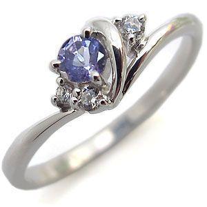 タンザナイト リング プラチナ 一粒 タンザナイトリング 指輪