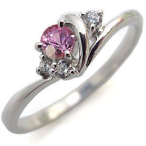 ピンクサファイア 指輪 一粒 10金 リング|plejour