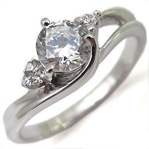 ダイヤモンド・エンゲージリング婚約指輪プラチナ・リング