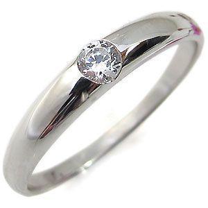 婚約指輪 安い ダイヤモンドリング 一粒 シンプル 18金 エンゲージリング|plejour