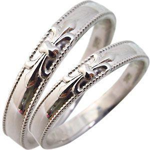 結婚指輪 マリッジリング ペアリング 百合の紋章 ミル打ち 18金 指輪|plejour