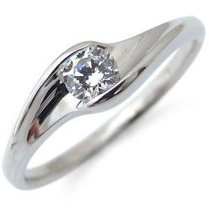 エンゲージリング 鑑定書付き 18金 ダイヤモンド 一粒 婚約指輪|plejour