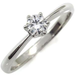 0.3ct 婚約指輪 ダイヤモンド リング 18金 エンゲージリング 指輪|plejour
