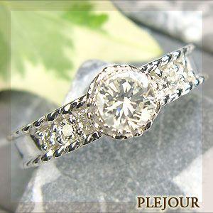 婚約指輪 安い ダイヤモンド リング 10金 エンゲージリン...