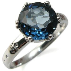 指輪 レディース ロンドンブルートパーズ リング 王冠 一粒 人気 プレゼント ギフト