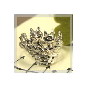 ダイヤモンド リング 猫 リング ねこ 指輪 plejour
