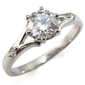 婚約指輪 エンゲージリング プラチナ ダイヤモンドリング 0.5ct 鑑別書付