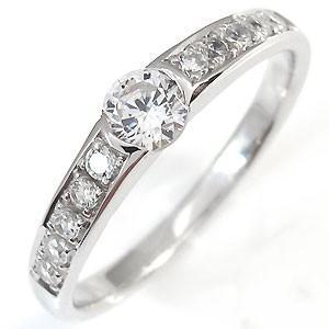 婚約指輪  安い キュービックジルコニア エンゲージリング ...