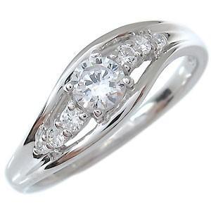 婚約指輪 安い キュービックジルコニア エンゲージリング 格...