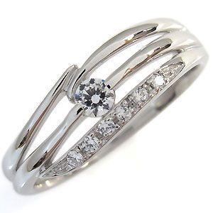 プラチナ エンゲージリング ダイヤモンド 婚約指輪|plejour