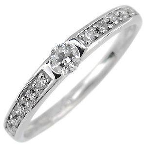 ハーフエタニティ リング プラチナ ダイヤモンド 婚約指輪 ファランジリング|plejour