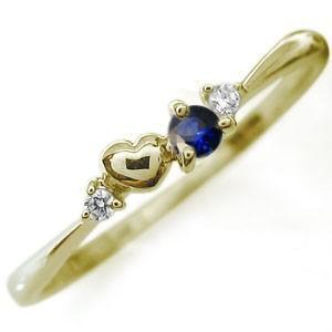 ファランジリング ハートモチーフ ピンキーリング 選べる誕生石 18金 指輪 重ね付け|plejour
