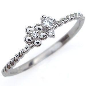 ファランジリング 選べる誕生石 フラワー リング 花 指輪 ピンキーリング 重ね付け|plejour