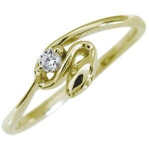 蛇 へび 指輪 リング ピンキーリング 選べる誕生石 10金 ファランジリング 重ね付け|plejour