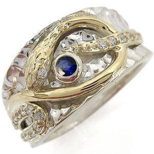 選べる誕生石 メンズ 蛇 リング 指輪 18金|plejour