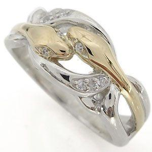 スネークリング 指輪 メンズ 10金 蛇 リング|plejour