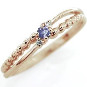 ファランジリング タンザナイト 指輪 シンプルリング ピンキーリング 10金|plejour